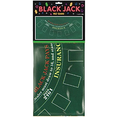 Casino Black Jack Party Tischdecke Themenparty Mottoparty
